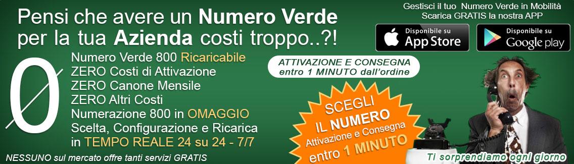 Attiva il tuo Numero Verde su NumeroVerde.com