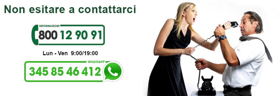 non esitare a contattarci per ricevere informazioni sul Numero Verde