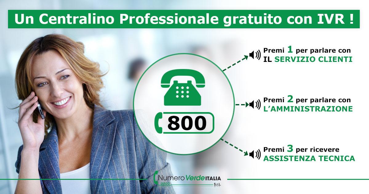 Un Centralino Professionale Gratuito con IVR - Numero Verde .com